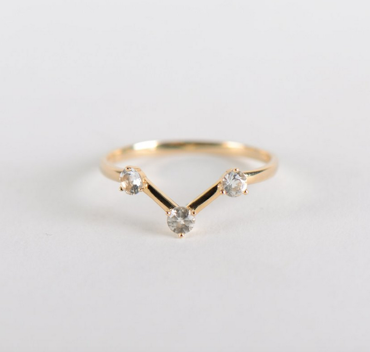 Calypso Ring White Topaz 10K