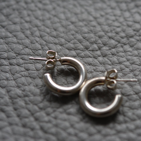 Small Joey Hoops Silver