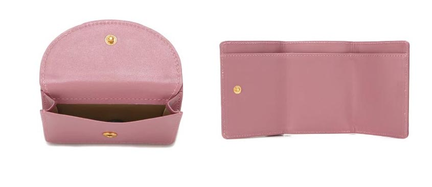 Halfmoon Mini Wallet Rose