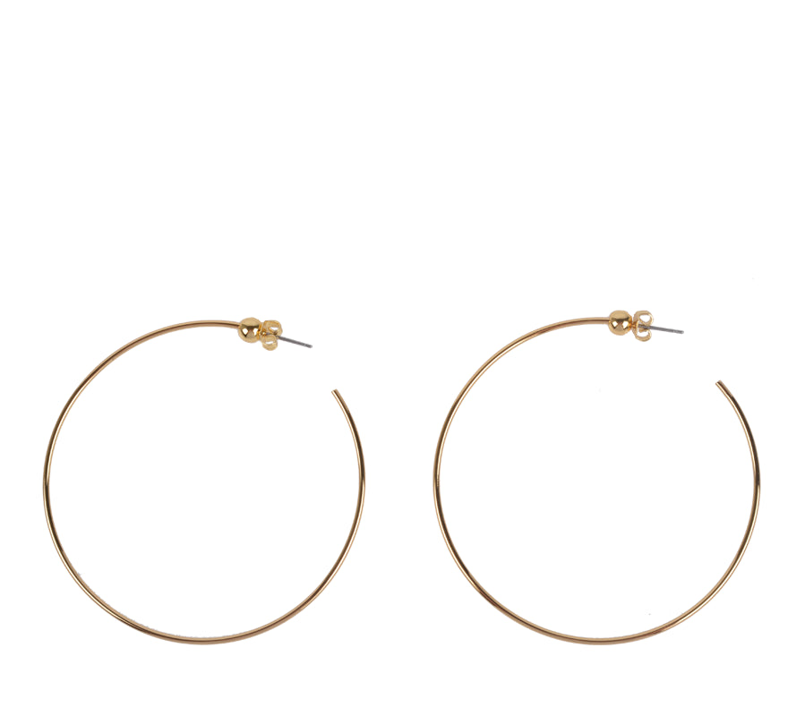 Icon Hoop, M-Jewelry-Jenny Bird-Gold-ZANE