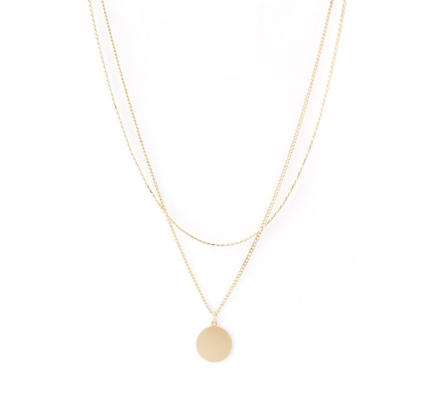 Cuchara-Blue Necklace, Gold-Jewelry--ZANE-Toronto-Canada