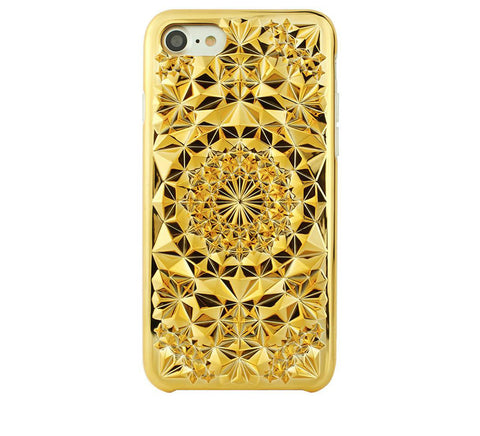 Kaleidoscope iPhone Case, Gold