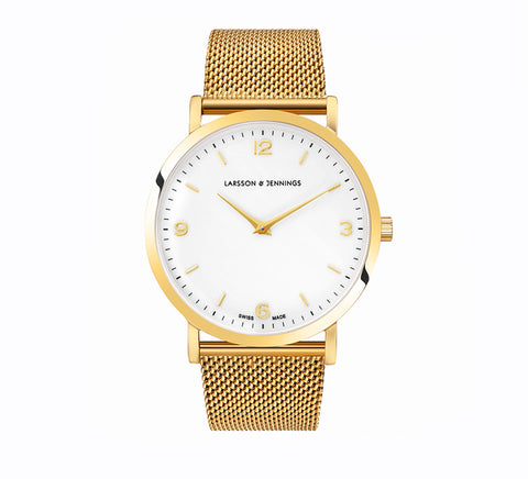 LUGANO CM 38mm GOLD-Watches-Larsson and Jennings-Gold-ZANE
