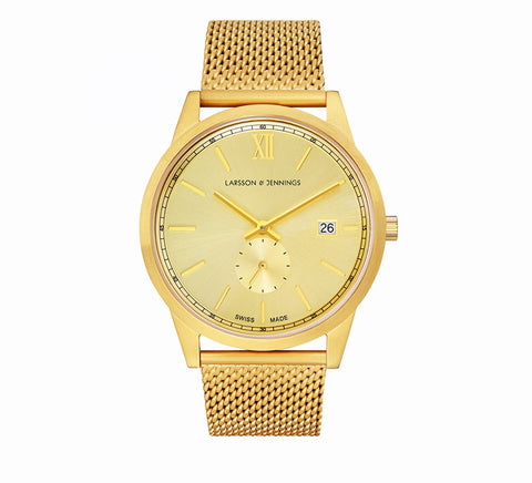 Larsson and Jennings-SAXON CM 39mm GOLD-Watches-Gold-ZANE-Toronto-Canada