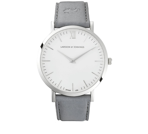 Larsson and Jennings-LUGANO LEATHER 40mm GREY-Watches-Grey-ZANE-Toronto-Canada
