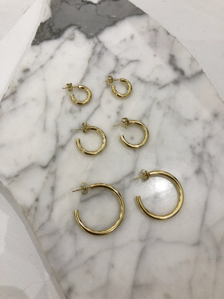 Large Joey Hoops, Gold