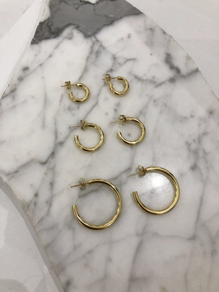 Small Joey Hoops, Gold