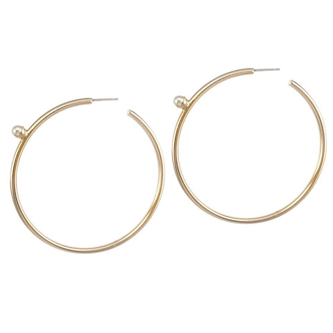 Pearl Floret Hoops | Large | 14K Gold Dipped