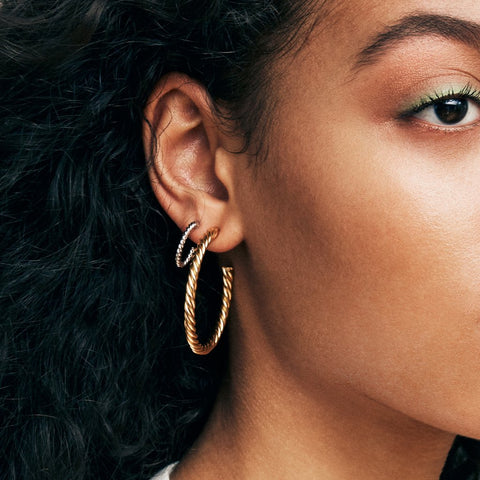 Helix Hoops Small | 14K Gold Dipped