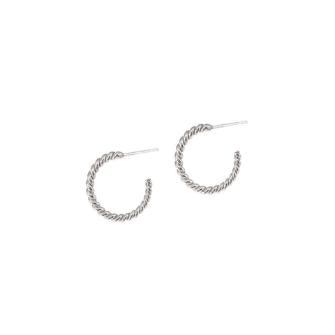 Helix Hoops Small - Silver