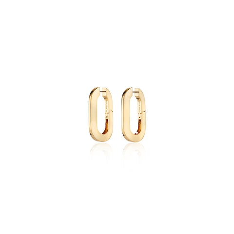 U-Link Earrings | 14k Gold Dipped