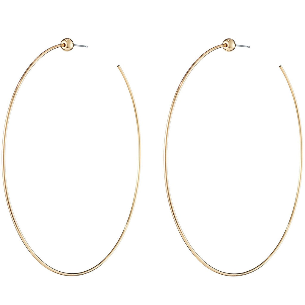 icon hoops large high polish gold