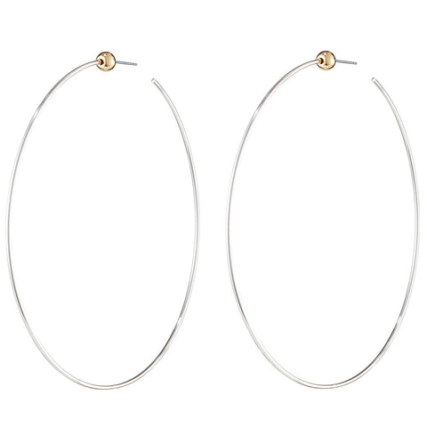 Icon Hoop | Large | Silver