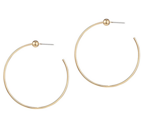 Icon Hoop | Small | 14k Gold Dipped