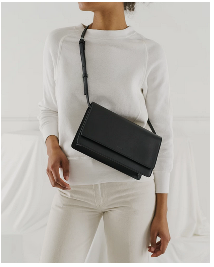 Large Structured Crossbody Black