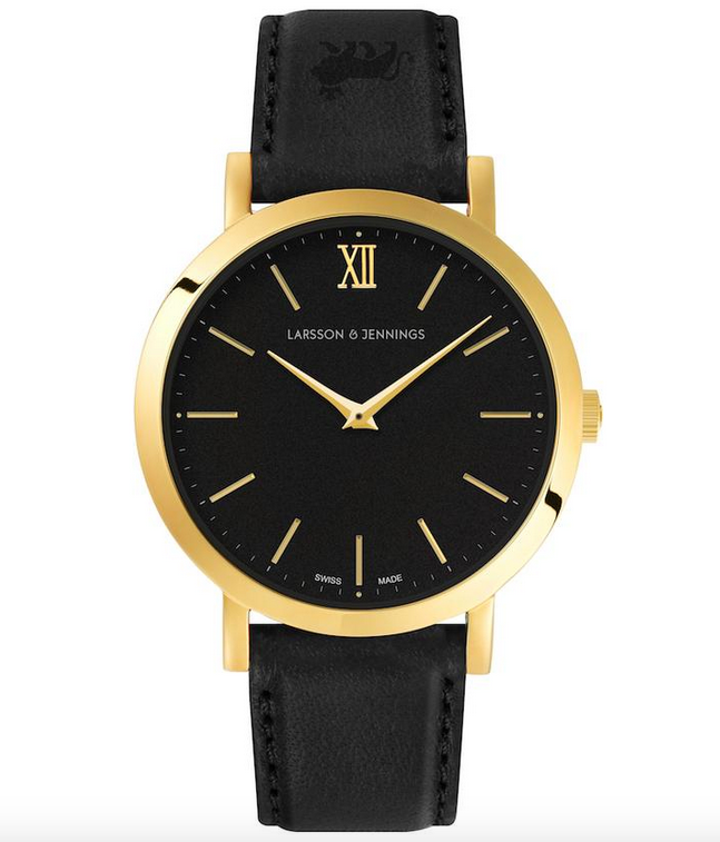 LJXII Lugano Leather 33MM Black/ Gold