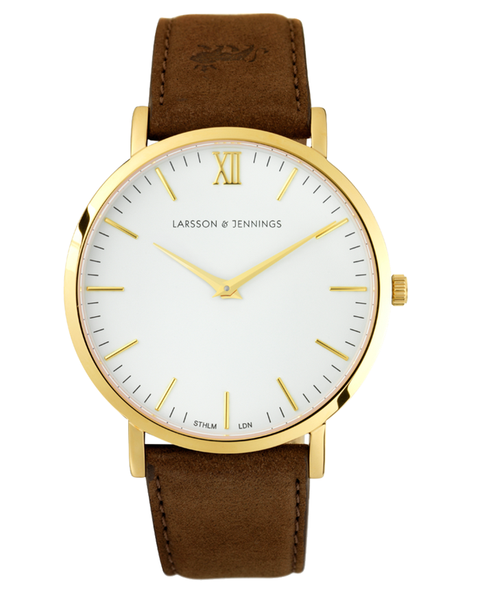 LJXII Lugano Leather 40MM Gold/ Tan