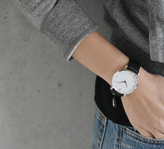 LUGANO LEATHER 40mm BLACK/WHITE