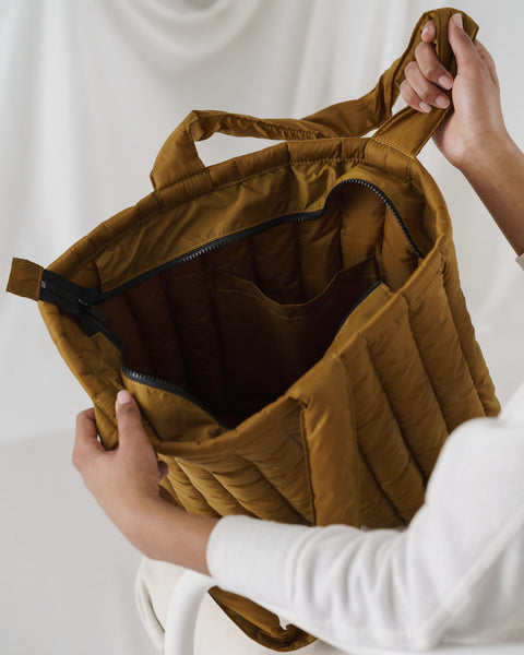 Puffy Tote Bronze