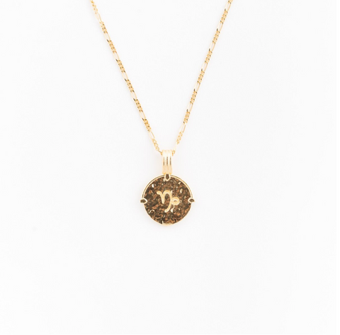 Capricorn Necklace | Gold
