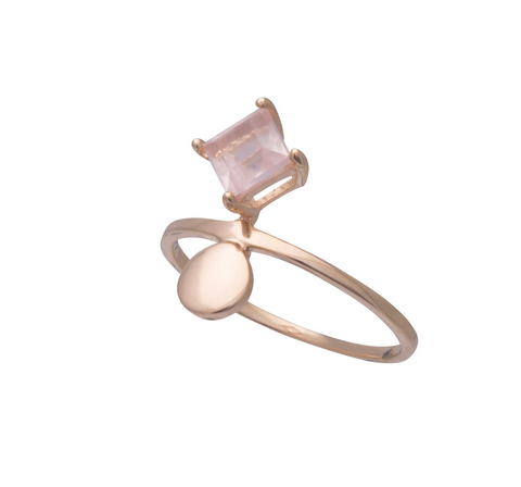 Sorn Ring Gold Rose Quartz Size 7