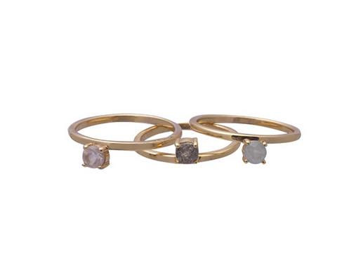 Obsession Ring Gold Moonstone Size 7