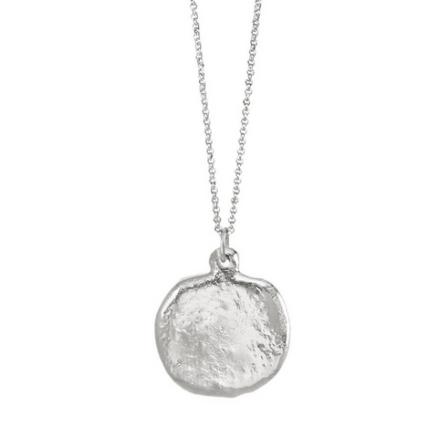 Moonwalk Pendant | Rhodium Dipped