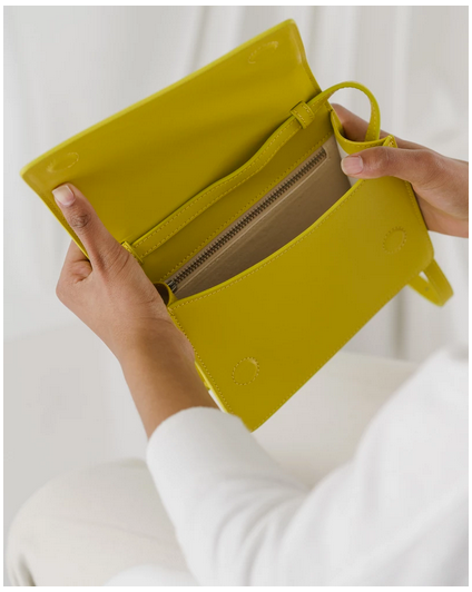 Small Structured Crossbody Citron