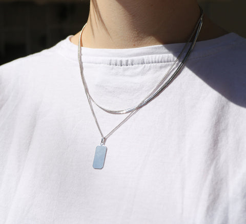 Angeles Necklace | Rhodium Dipped