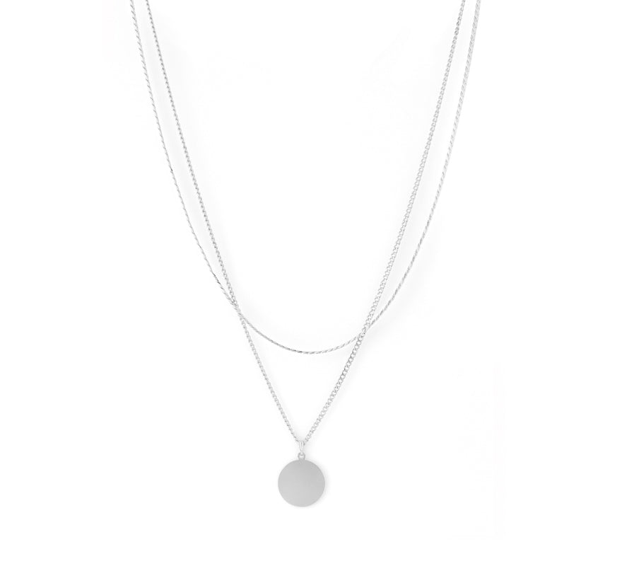 Cuchara-Blue Necklace, Silver-Jewelry--ZANE-Toronto-Canada