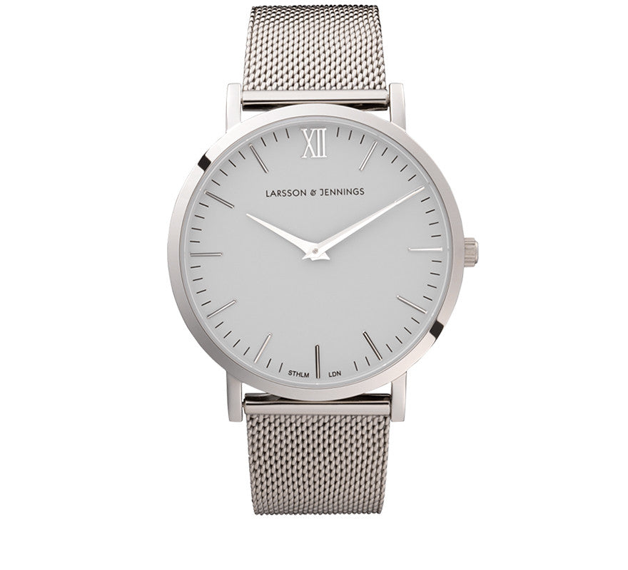 LUGANO CM 40mm SILVER-Watches-Larsson and Jennings-Silver-ZANE