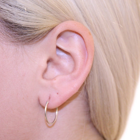 Sleeper Hoops Silver 20mm