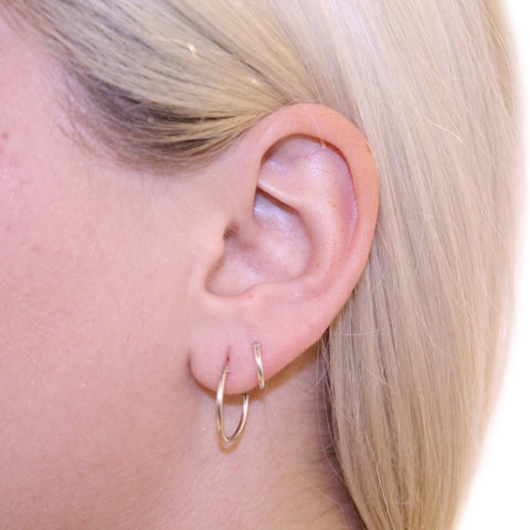 Sleeper Hoops Silver 12mm