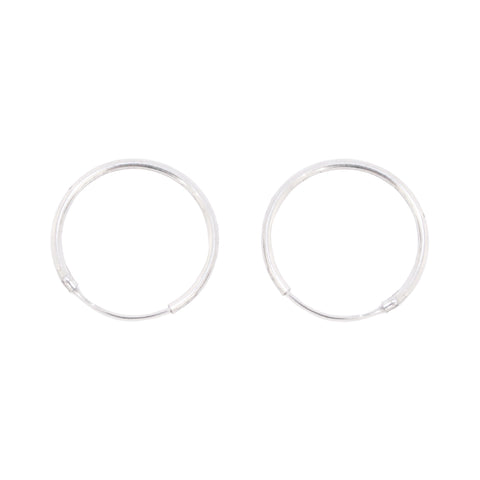 Sleeper Hoops Silver 22mm