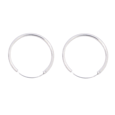 Sleeper Hoops Silver 30mm