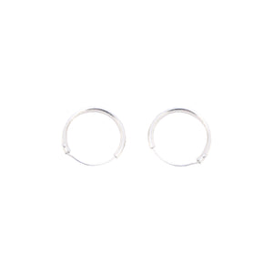 Sleeper Hoops Silver 9mm