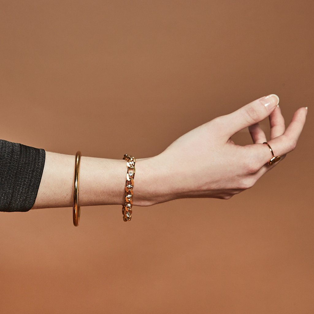 Twin Flame Bracelet Gold