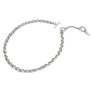 Twin Flame Collar Silver