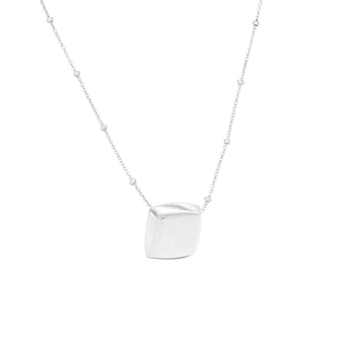 Cushion Pendant Silver