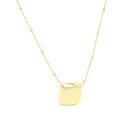 Cushion Pendant Gold