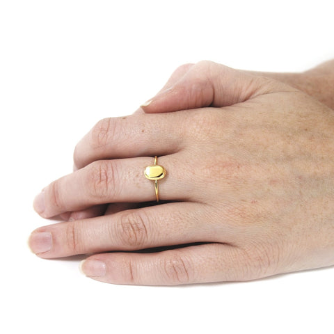 Oval Mini Ring Gold