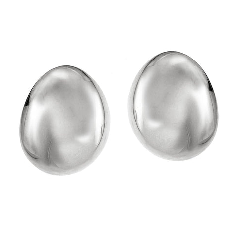 Galina Studs | Large | Rhodium Dipped