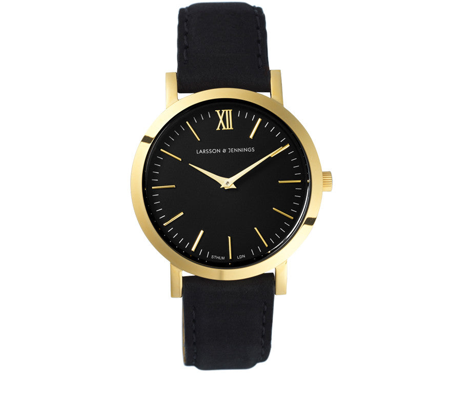 LUGANO LEATHER 33mm BLACK
