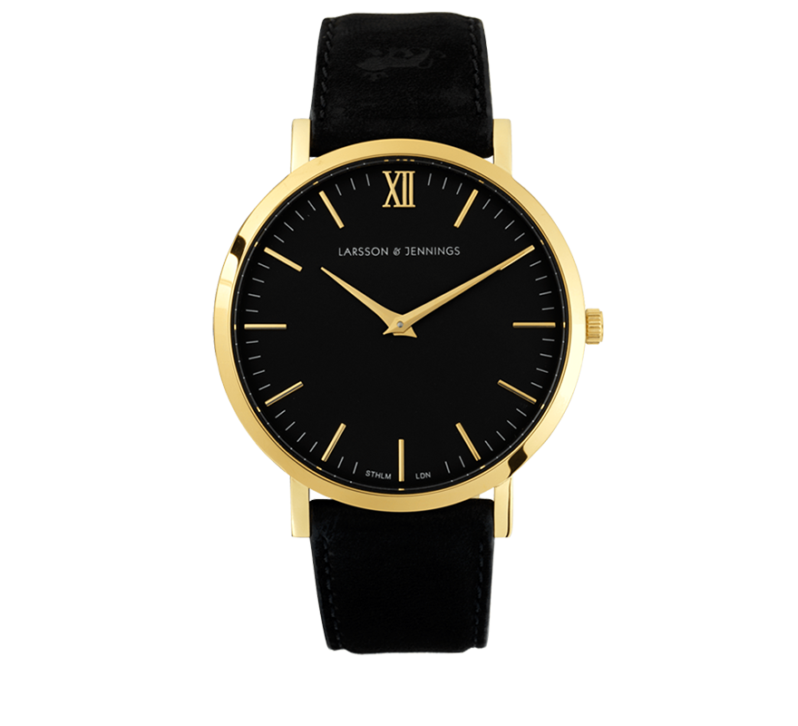 Larsson and Jennings-LUGANO LEATHER 40mm BLACK-Watches-Black-ZANE-Toronto-Canada