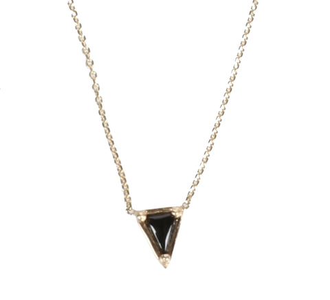 Triangle Necklace, Black Spinel