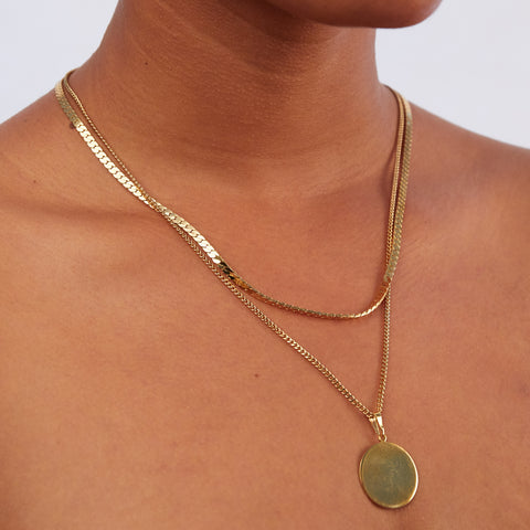 Blue Necklace | 14K Gold Dipped