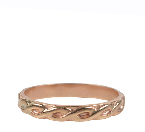 Fresh Tangerine-Braided Stacking Ring, Gold-Jewelry-6-ZANE-Toronto-Canada