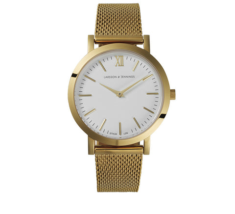 LUGANO CM 33mm GOLD-Watches-Larsson and Jennings-Gold-ZANE