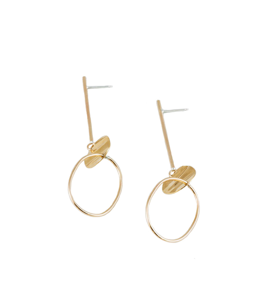Larissa Earrings, Gold