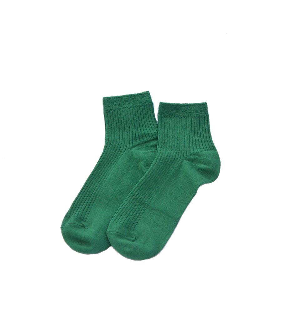 Ribbed Socks, Green